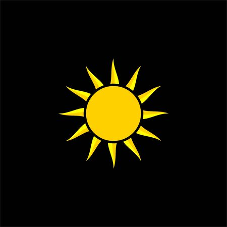 sun vector Illustration for template design, dark background
