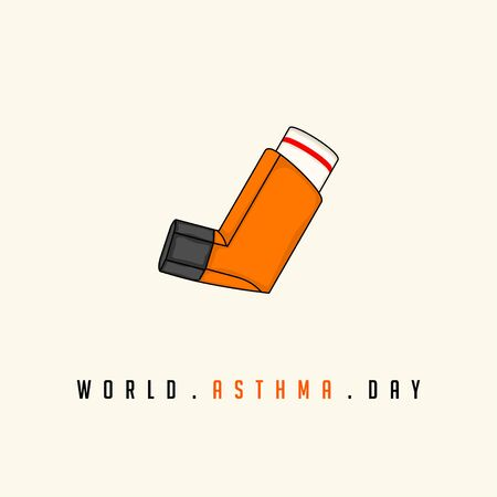 World Asthma Day with breathing apparatus vector design