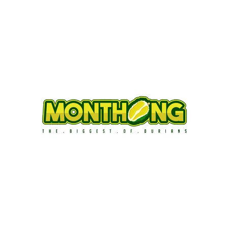 Typography for Monthong Durian, sticker or template, Monthong is one type of durian
