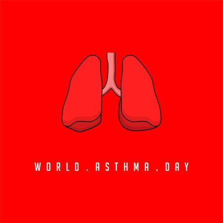 World Asthma Day with lung vector design Banco de Imagens - 138269468
