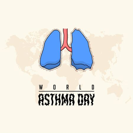 World Asthma Day with lung vector design