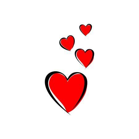 Hearth Shape vector Illustration for template design