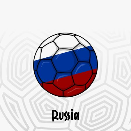 Ball Flag of Russia, Football championship banner, Vector illustration of abstract soccer ball with Russia national flag colors for template design Illusztráció