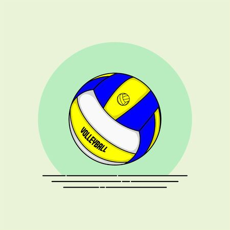 Volley Ball vector Illustration for template design