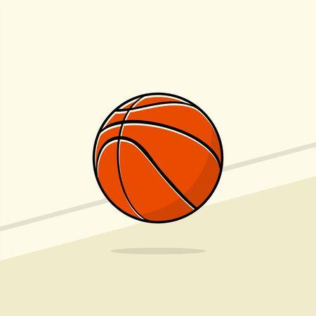 Bouncing Basketball vector Illustration for template design Illustration