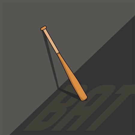 Softball Bat on the wall vector Illustration for template design with background