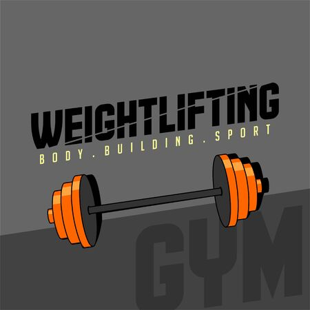 Weightlifting, body building sport vector design, weightlifting background, weightlifting template design