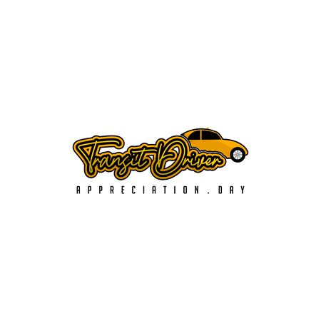 Transit Driver Appreciation day with taxi vector Illustration for template design Stock Illustratie