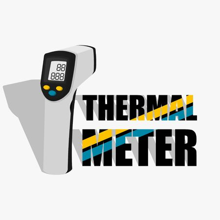 Thermal Meter vector Illustration for template design