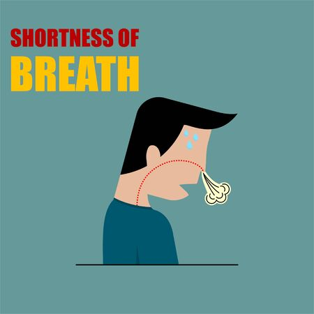 Shortness of Breath vector Illustration for template design