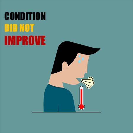 Weak body condition, Condition did not improve vector Illustration for template design