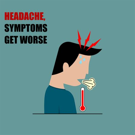 Headaches and Symptoms get Worse vector Illustration for template Design 向量圖像