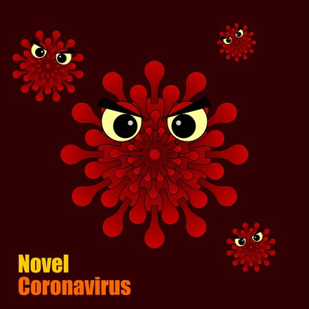 Red Evil Corona virus concept, vector illustration for template design 向量圖像