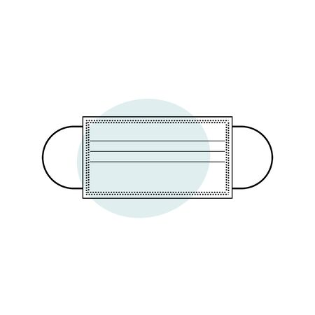 Illustration vector graphic of Mask Outline for template design. Stop Covid-19 Mask