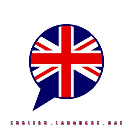 England flag on balloon for English Language Day vector Illustration for template design