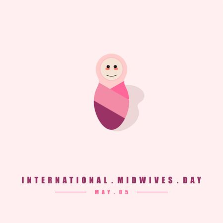 International Midwives Day. Baby cute icon. Mom and Baby. celebrating on 05 may. vector Illustration
