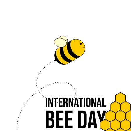 International Bee Day. Bee Day Typography. Nectar Icon. Illustration.