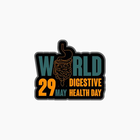 World digestive health day. celebrate on 29 may. typography for digestive health day. vector illustration.