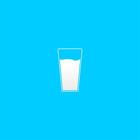 Icon of milk on mug. good template design for drink, food, beverage, etc.