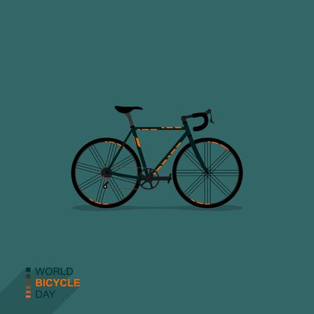 Vector Illustration of Racing Bike. good template for world Bicycle day, or other design about bike.