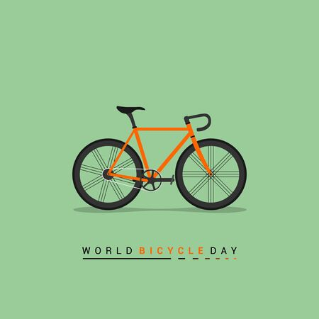 Vector Illustration of Road Bike. good template for world Bicycle day, or other design about bike.