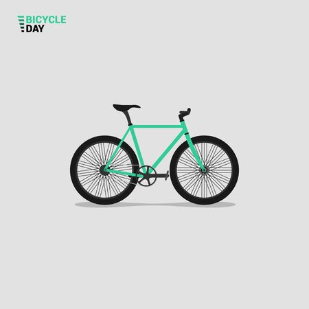 Vector Illustration of Mountain Bike. good template for world Bicycle day, or other design about bike. Illusztráció