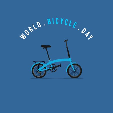 Vector Illustration of Folding Bike. good template for world Bicycle day, or other design about bike.