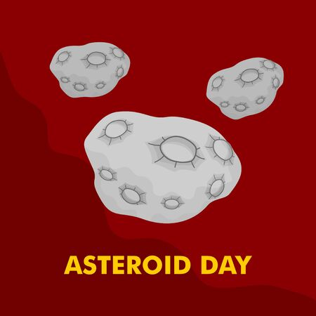 Vector Illustration of Asteroid Stone. good template for space design, or International Asteroid Day. Illusztráció