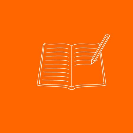 Vector Illustration of book and pencil. good template for education design, skill design, etc.
