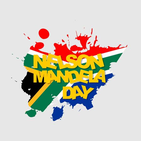 Nelson Mandela Day vector illustration with south africa flag design. perfect template for Nelson Mandela Day. 矢量图像