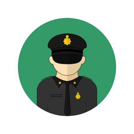 vector illustration of the police avatar icon. Perfect template for security design.