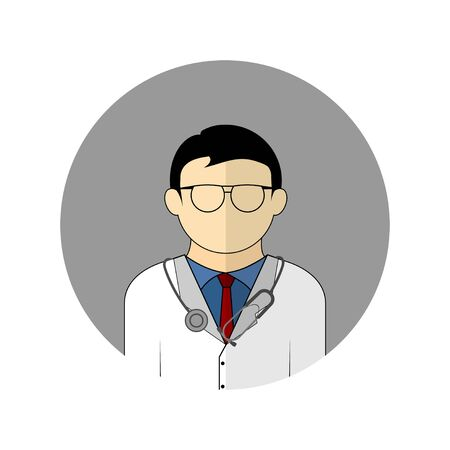 vector illustration of the doctor avatar icon. Perfect template for medical design. 向量圖像