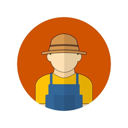 vector illustration of the farmer avatar icon. Perfect template for farming or agriculture design. 向量圖像
