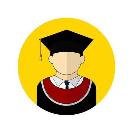 vector illustration of the graduate avatar icon. Perfect template for education design.