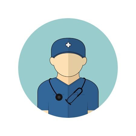 vector illustration of the nurse avatar icon. Perfect template for medical design.