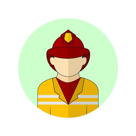 vector illustration of the fireman avatar icon. Perfect template for firefighter design.