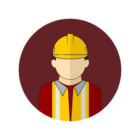 vector illustration of the worker avatar icon. Perfect template for construction design.