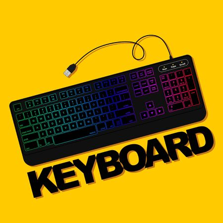 Gaming Keyboard vector illustration. Good template for computer peripheral design