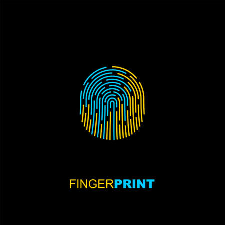 International Day of the Disappeared design with Fingerprint design on earth. Ilustração