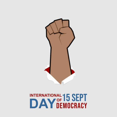 Fist hand vector illustration. Perfect template design for international day of democracy design.