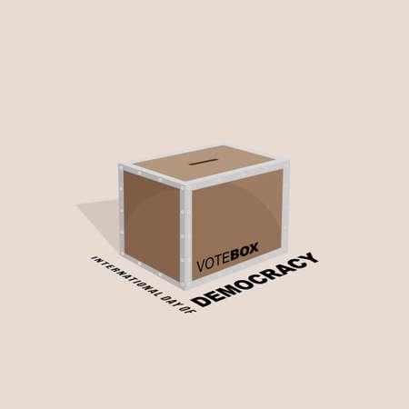 International day of Democracy design with Vote box vector Illustration 矢量图像