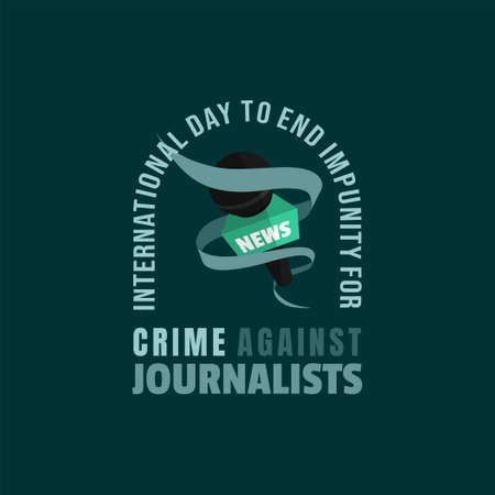 International Day to End Impunity for Crimes against Journalists design with microphone vector illustration.