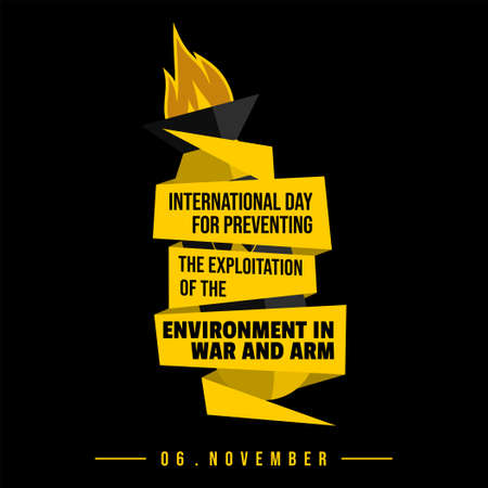Typography design of International Day for Preventing the Exploitation of the Environment in War and Armed Conflict vector illustration.
