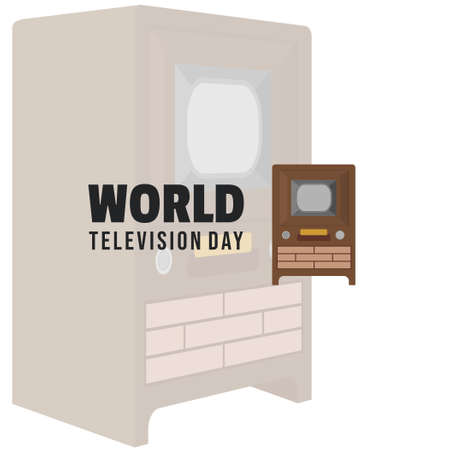 World Television Day with Classic television vector illustration. Good template for television or broadcast design. Ilustração