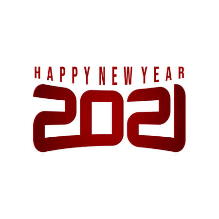 Happy New Year 2021 vector illustration with cool 2021 number concept design. Good template for New year or calendar design.
