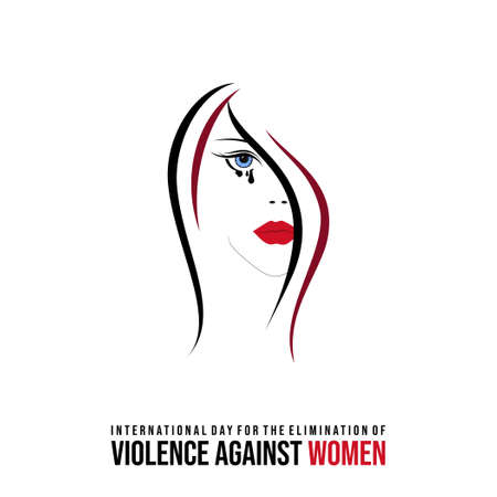 International Day for the Elimination of Violence against Women design with crying women vector illustration. Also good template for Female design.