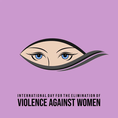 International Day for the Elimination of Violence against Women design with women eye vector illustration. Also good template for Female design.