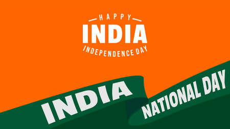 Yellow and green Background design for India National Day. Good template for India National Day design.