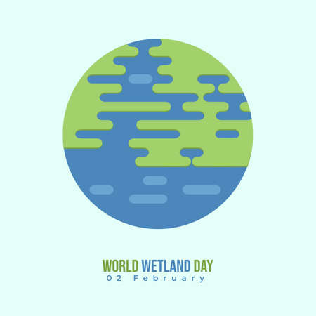 World wetland day vector illustration with circle flat design. good template for wetland day design.