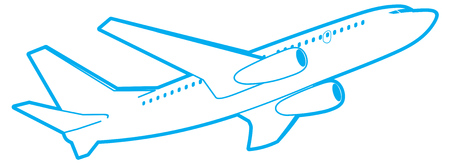 passenger plane: outline passenger plane, bottom view.